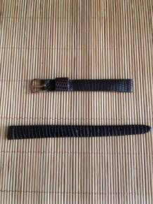 BAND IT Brown Genuine Lizard Leather Strap 10mm