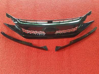 Honda civic fc x type r front grill grille abs