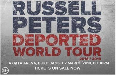 Russell Peters Deported World Tour 2018 tickets