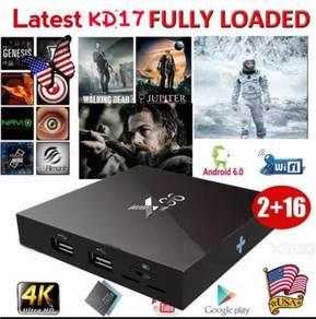 X96 mix 2g/16g Android mini box tv latest