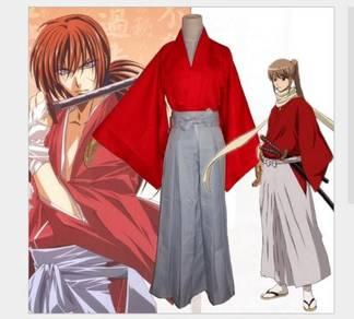 Rurouni Kenshin himura sumarai kimono cosplay cost
