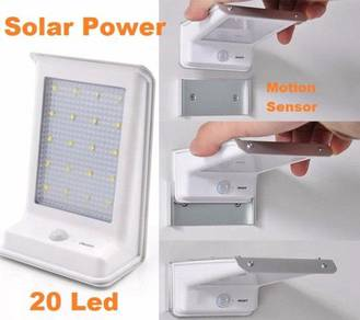 Solar Power 20 LED Motion Sensor Garden Light