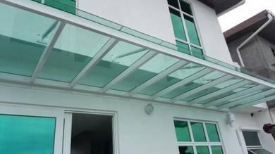 Glass roof bumbung kaca kalis pecah