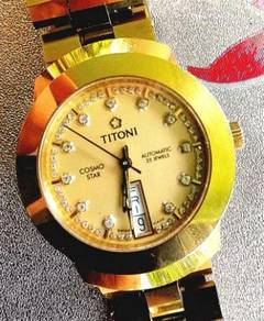 Jam Titoni Cosmo star swiss diamond ceramic Watch