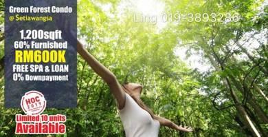 YEAR END PROMO! Ready Move In Setiawangsa Condo 1300sf,0%DP,Free Legal