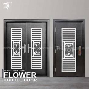 Security Door Combo Double & Single Flower Zone 1
