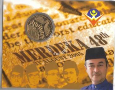 Medallion Coin 48th Merdeka 2005
