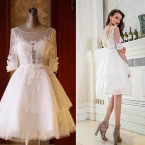 White wedding bridal dress bridesmaid RB0268