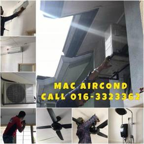 Aircond, Water Heater, Light and Fan Install KL