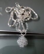 ABPS9-F005 925 Silver Fancy Ball Style Necklace