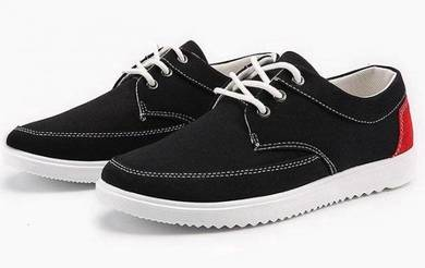 0231 Summer Korean Black Low-Top Casual Men Shoes