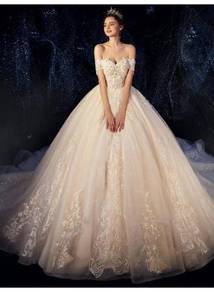 Cream fishtail wedding bridal dress gown RB2045