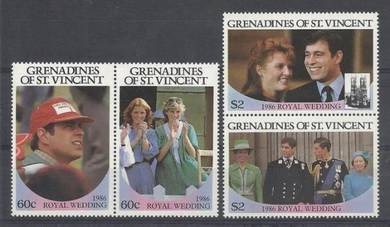 St Vincent Grenadines 1986 Royal Wedding mnh BJ150