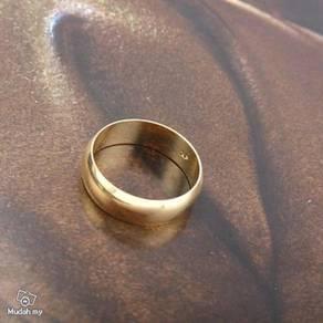 ABRGF-P002 9k Gold Filled Smooth Plain Ring Sz8.75