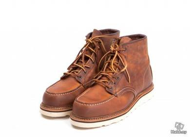 Work Boots Red Wing Moc Toe 6Inc Brown Copper 1907