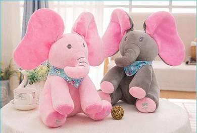 [READY ] Cute Peek-A-Boo Singing Elephant