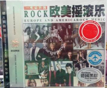 IMPORTED CD ROCK Europe And Americarock Music 3CD