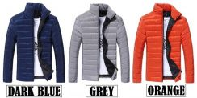 (369) Padded Winter Coat Man Warm Sweater Jacket