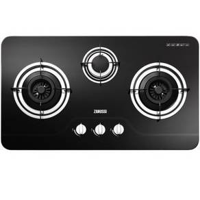 0% GST * New ZANUSSI 3 Burner Glass HOB