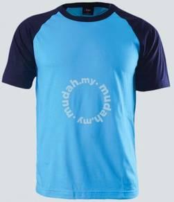 Tshirt Raglan Short Sleeve color TURQ/NAVY