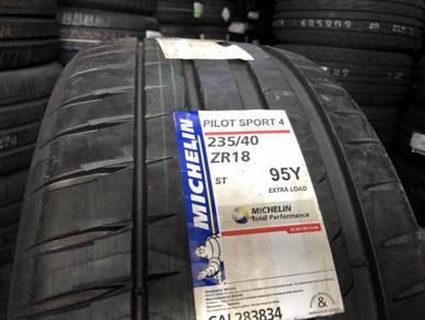 Tayar baru 235 40 18 Michelin pilot sport 4 2020