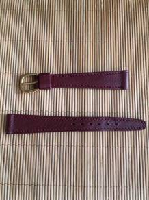 LOIUS MARTIN Red Calf Leather Watch Strap 14mm