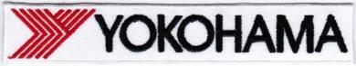 Yokohama Tires Car Racing Iron On Badge Patch