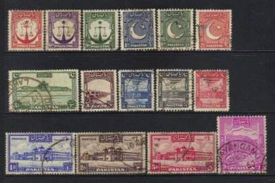 Pakistan 1947 mix and old selection BL98