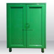 Aluminium 4 layer shoes cabinet - green