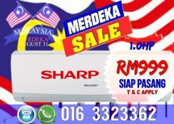 Siap Pasang 999 AIRCOND SHARP Best Price KL/SEL