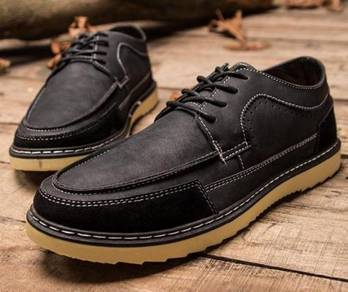 0238 Black Tooling Dock Business Men Casual Shoes