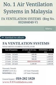 SUNGAI PETANI & ALOR SETAR Wind Turbine Ventilator