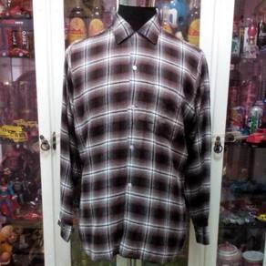 Vtg 50s Arrow Chevella Rayon Shadow Plaid Shirt