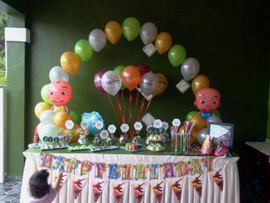 Birthday Party Balloon- Simple & Murah