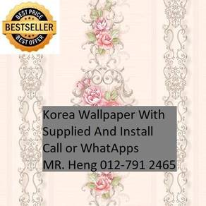 PVC Vinyl Wall paper with Expert Install 45yy5h