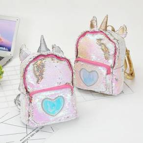 Sequin unicorn silver gold backpack bag RBHB044