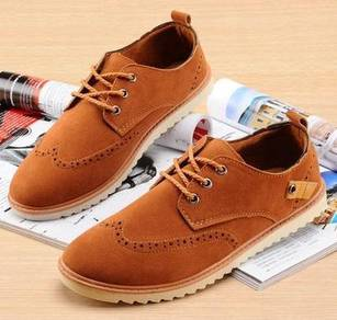 0225 Retro British Business Brown Men Casual Shoes