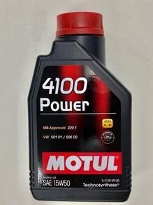 MOTUL (1 Litre) 4100 Power 15W50 Engine Oil
