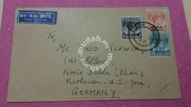 Antik Cover Teluk ANSON German 1948 No 729 RARE
