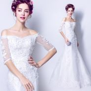 White Wedding bridal prom dress gown RB0258