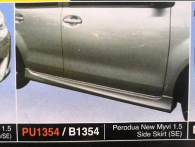 Perodua myvi side skirt lagi best without paint pu