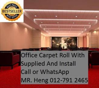 Modern Plain Design Carpet Roll With Install 34t