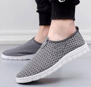 S0265 Grey Breathable Sports Slip Ons Water Shoes