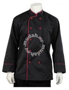 Chef Kitchen Uniform color Hitam Black