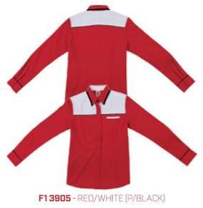 Kemeja Korporat Uniform F1 Female F13905 Red/White