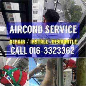 Aircond Servicing/Install/Dismantle MON-SUN