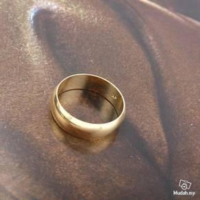 ABRGF-P002 9k Gold Filled Smooth Plain Ring Sz7.75