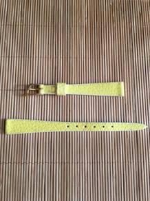 KREISLER Yellow Corfam Leather Watch Strap 11mm