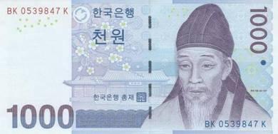 Banknote Korea South #054 1,000 Won (2007) UNC