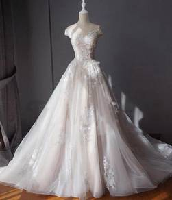 White fishtail Wedding bridal dress gown RB0251